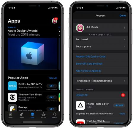 Du nouveau pour les mises à jour d'app et suppression facilitée avec iOS 13 2