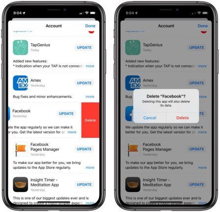 Du nouveau pour les mises à jour d'app et suppression facilitée avec iOS 13 3