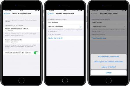 iOS 13 permet aux parents de limiter les communications des jeunes utilisateurs d'iPhone 3