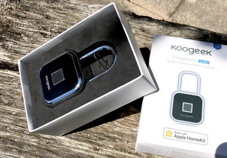 Test du cadenas connecté Homekit Koogeek L3: lecteur d'empreinte et commande vocale 2