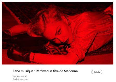 """Remixez le dernier single de Madonna en Apple Store, dans de prochaines sessions """"Today at Apple"""" 2"""